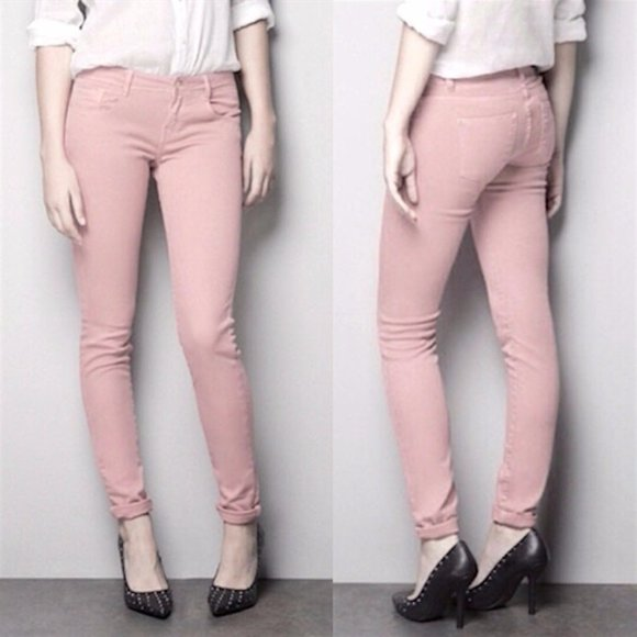 Zara Dusty Rose Skinny Jeans